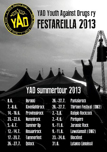 YAD festarijuliste 2013